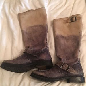 FRYE boots!  Grey ombre size 6